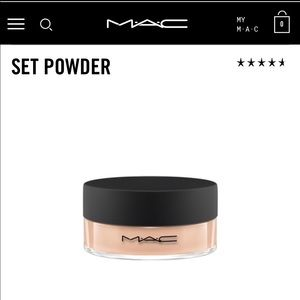 Mac set powder in peach